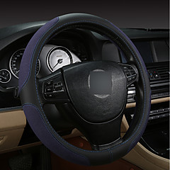 billige Rattovertrekk til bilen-Rattovertrekk til bilen Lær 38 cm Svart / Brun / Svart / Rød / Svart / Blå For Audi S8 / S3 / Q5 Alle år