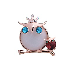 cheap Brooches-Women's / Girls' Owl Rhinestone Rhinestone Brooches - Animal Design / Cute Style Champagne Brooch For Gift / Casual