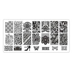 olcso -Nail bélyegzés Képsablon lemezek Stamper kaparó