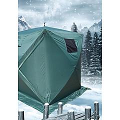 3-4 Persoons Tent Enkel Kampeer tent Eèn Kamer Gezinstenten Winddicht Waterdichte Rits voor 1000-1500 mm PVC Met Deklaag-180*180*205 CM