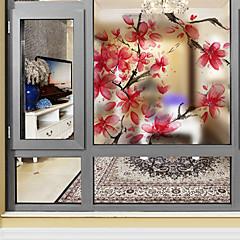 preiswerte Fensterdekoration-Fenster Film & Aufkleber Dekoration Blumig Art Deco PVC / Vinyl Fenster-Aufkleber / Wohnzimmer