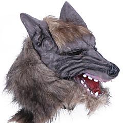 billige Originale moroleker-Haloween-masker Spøkeleke Halloween Utstyr Maskerademasker Dyremaske Nyhet Ulvehode Horrortema Lasteks Gummi Deler Unisex Voksne Gave