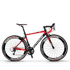 אופני קרוזר רכיבת אופניים 18 מהיר 700CC/26 אינץ' Shimano דיסק בלימה ללא דאמפים נגד החלקה סגסוגת אלומיניום סיבי פחמן + EPS Aluminum Alloy