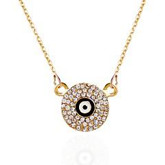 cheap Necklaces-Women's Rhinestone Pendant Necklace Chain Necklace - Personalized Round Necklace For Party Birthday