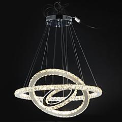 Okrągły Lampy widzące Światło rozproszone Galwanizowany Metal Kryształ, Przygaszanie, LED 110-120V / 220-240V Zawiera żarówkę / LED zintegrowany