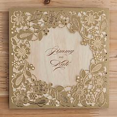 cheap Wedding Invitations-Wrap & Pocket Wedding Invitations Invitation Cards Classic Style Embossed Paper