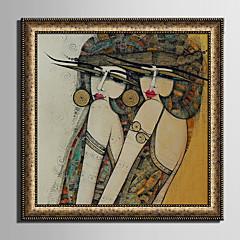 billige Innrammet kunst-Innrammet Lerret Innrammet Sett Mennesker Romantik fantasi Veggkunst, PVC Materiale med ramme Hjem Dekor Rammekunst Stue Soverom Kjøkken