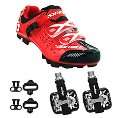 Mountain Bike Shoes Cycling Shoes With Pedal & Cleat Men's Wearable Sporty Synthetic Microfiber PU EVA Mountain Cycling Road Cycling-