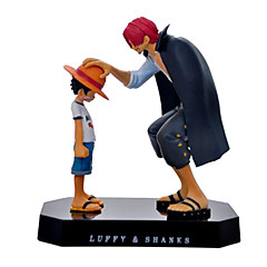 halpa -Anime Toimintahahmot Innoittamana One Piece Monkey D. Luffy 18 CM Malli lelut Doll Toy