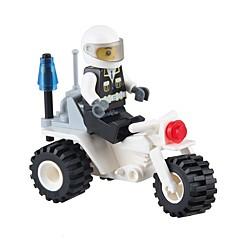 JIESTAR אבני בניין דמויות מאבני בניין אופנוע צעצועים אופנועים משטרה רכבים Military Non Toxic קלסי עיצוב חדש מבוגרים 27 חתיכות