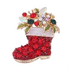 女性用 ブローチ 合成ダイヤモンド クリスマス かわいいスタイル ジルコン ジュエリー ジュエリー 用途 お出かけ クリスマス