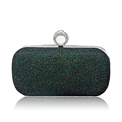 cheap Wedding Shoes-Women Bags PU Evening Bag Sequins for Wedding Event/Party All Seasons Champagne Silver Red Blushing Pink Dark Green