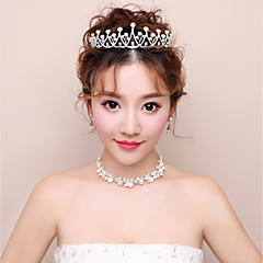 cheap Jewelry Sets-Women's Rhinestone Jewelry Set Hair Jewelry Earrings Necklace - For Wedding Evening Party