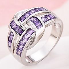 男性用 女性用 ナックリリング 婚約指輪 キュービックジルコニア ジルコン 銅 幾何学形 ジュエリー 用途 結婚式 パーティー 誕生日 婚約