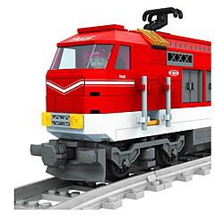 אבני בניין רכבת צעצועים רכבת טבע דומם רכבים אופנה חתיכות
