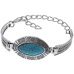 בגדי ריקוד נשים שרשרת וצמידים טורקיז מקסים קלאסי טורקיז סגסוגת Oval Shape תכשיטים עבור אחר קזו'אל
