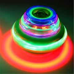 팽이 장난감 장난감 라운드 야외 음악 LED 컬러풀 남아 여아 1 조각