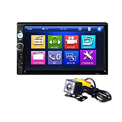 cheap Car DVD Players-7 Inch  Bluetooth V2.0 Car Audio Car DVD MP5 Player with Rear View Machine 7010B