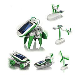 6 IN 1 로봇 태양열 에너지 장난감 장난감 비행기 풍차 배 로봇 1 조각