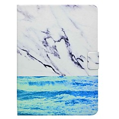 billige Nettbrettetuier-Etui Til Samsung Galaxy Heldekkende etui Tablet Cases Marmor Hard PU Leather til Tab 4 10.1