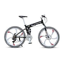 אופני הרים מתקפל אופניים רכיבת אופניים 21 מהיר 700CC/26 אינץ' Shimano דיסק בלימה כפול מזלג שיכוך אלומיניום אלומיניום Aluminum Alloy