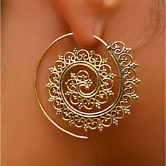 Women's Stud Earrings Hoop Earrings Personalized Statement Jewelry Alloy Round Jewelry For Stage Club