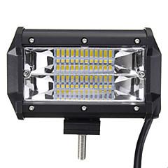 5 polegadas 72w duas linhas de luzes de luz conduzidas luz de trabalho dirigindo luzes de veículo fora de estrada modificadas luzes de