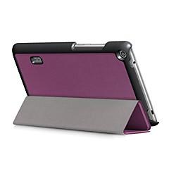 solid farge mønster pu lærveske med søvn for huawei mediapad t3 7,0 tommers tablet pc