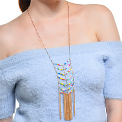 お買い得  ファッションネックレス-女性用 ボヘミアンスタイル 特大の カラー ステートメントネックレス  -  ボヘミアンスタイル 特大の 幾何学形 ゴールド ネックレス 用途 パーティー 祭り
