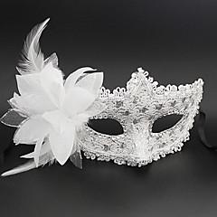 Prinzessin Märchen Maske Unisex Halloween Karneval Silvester Fest / Feiertage Halloween Kostüme Rosa Schwarz Weiß Silber Solide Spitze