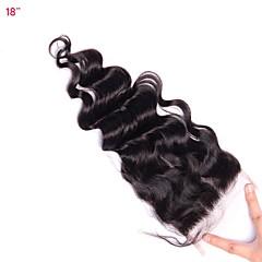 billiga Peruker och hårförlängning-CARA Klassisk 5x5 Stängning Fransk spets Äkta hår Fria delen Mittparti 3 Del Hög kvalitet Dagligen