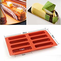 billige Bakeredskap-8 former eclair silikon kake mold baking klassisk finger kjeks mold