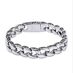 billige Fine smykker-Herre Kæde & Lænkearmbånd - Rustfrit Stål Unikt design, minimalistisk stil, Mode Armbånd Sølv Til Julegaver Daglig Afslappet
