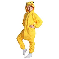 Pyjama Kigurumi  Pika Pika Combinaison Pyjamas Costume polaire Jaune Cosplay Pour Enfant Pyjamas Animale Dessin animé Halloween Fête /