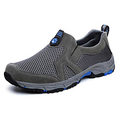 Running Shoes Mountaineer Shoes Men's Anti-Slip Rain-Proof Wearable Breathability Leisure Sports Low-Top Real Leather Tulle Rubber Hiking