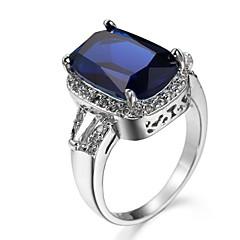 levne -Pánské Dámské Boxer Zásnubní prsten Kubický zirkon Zirkon Měď Square Shape Šperky Pro Svatební Párty Narozeniny Zásnuby