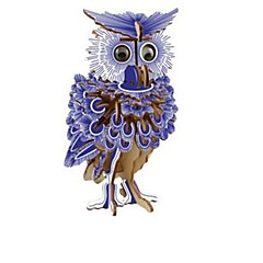 cheap -3D Puzzles Wood Model Model Building Kit Owl 3D Kids Hot Sale Houses Fashion New Owl Modern/Contemporary Children's Gift