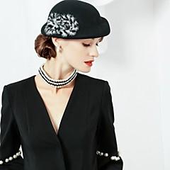 Χαμηλού Κόστους -Μαλλί Γούνα Αλεπούς Καπέλα 1pc Headpiece