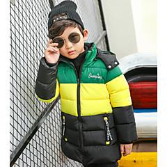 tanie Odzież dla chłopców-Dzieci Dla chłopców Prążki Długi rękaw Bawełna Odzież puchowa / pikowana