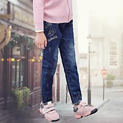 billige Bukser og leggings til piger-Børn Pige Aktiv Jeans Bomuld Bukser
