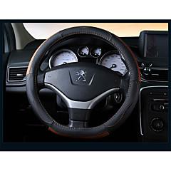 billige Rattovertrekk til bilen-Rattovertrekk til bilen Lær 38 cm Beige / Svart / Oransje / Svart / Rød For Peugeot 308 / 307 / 408 Alle år