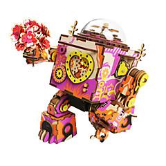 Roboter Holzpuzzle Spielzeuge Fotograf Maschine Roboter Zeichentrick Heimwerken Kinder Stücke