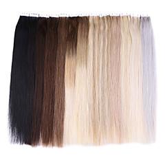 baratos Extensões de Cabelo Natural-Com Adesivo Extensões de cabelo humano Clássico Cabelo Humano Mulheres Diário