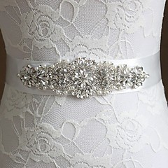 cheap Party Sashes-Grosgrain Wedding Party / Evening Sash With Rhinestone Bowknot Sashes