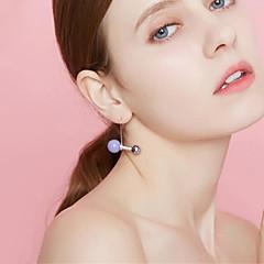 levne Módní náušnice-Dámské Koule Imitace perly Postříbřené / Pozlacené Peckové náušnice - Jednoduchý / Sladký Oranžová / Fialová / Červená Náušnice Pro Denní