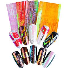 billige Negleklistremerker-4 neglelakk klistremerker dekaler 3d spiker klistremerker folie stripende tape makeup kosmetisk negler kunst design