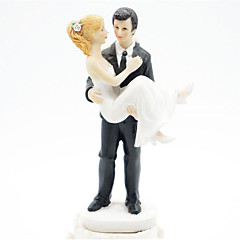 Kakepynt Eventyr Tema Bryllup Pleksiglass Bryllup Med Gaveeske