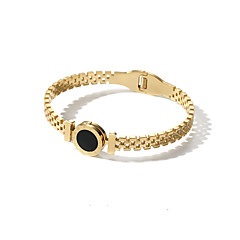 billige Fine smykker-Dame Armbånd - Mode / Koreansk Cirkelformet Guld / Rose Guld Armbånd Til Anden / Gave / Daglig