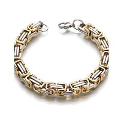 Pánské Dámské Řetězové & Ploché Náramky Formal Klasické Nerez Geometric Shape Šperky Pro Svatební Ležérní