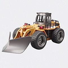 billige Fjernstyrte biler-Radiostyrt Bil HUINA 586 2.4G Entreprenørmaskiner gravemaskin 1:18 10 KM / H Fjernkontroll Oppladbar Elektrisk